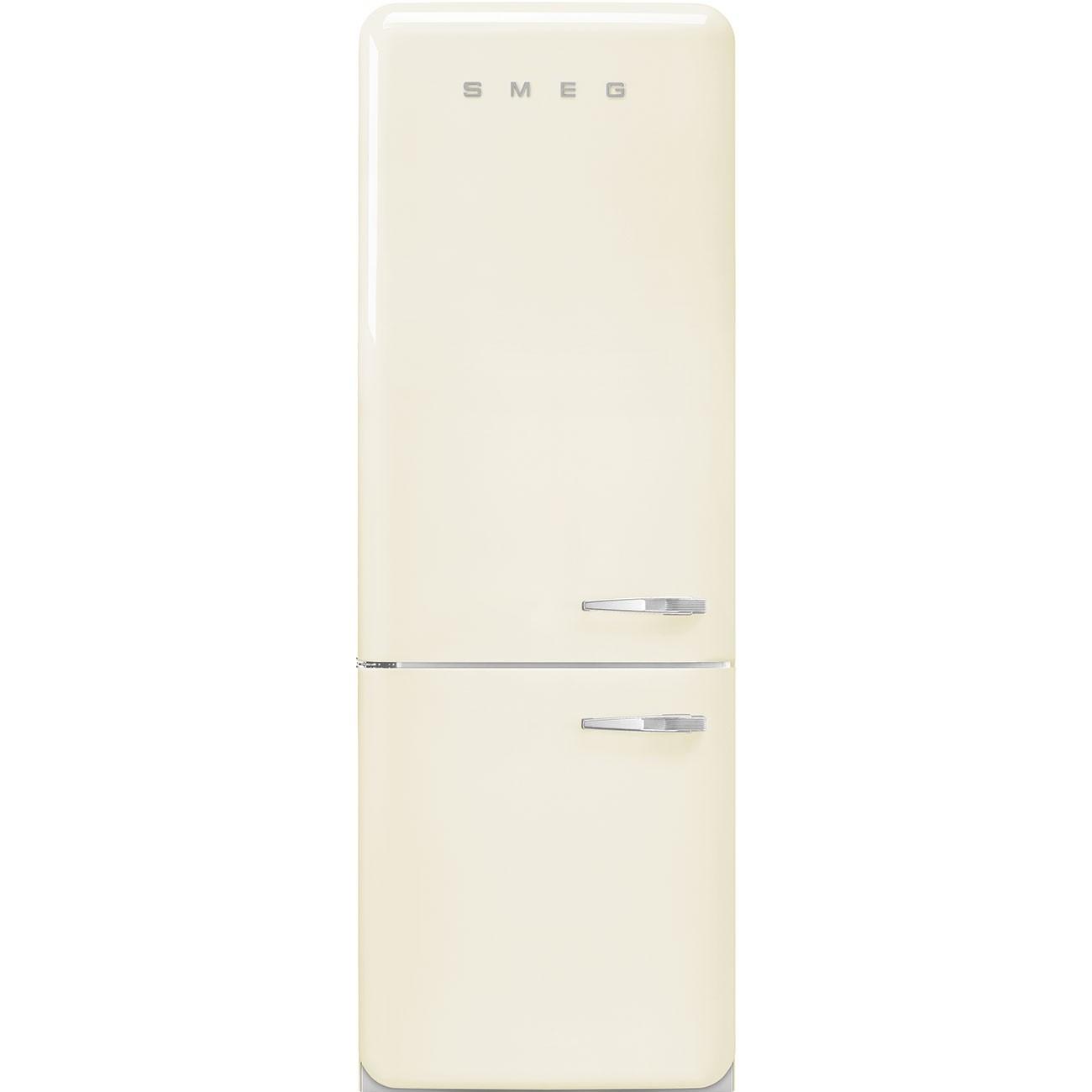 Anni 50 Frigorifero Smeg smeg fab38lcr - frigorifero combinato smeg anni '50, panna ,larghezza 70 cm  , 461 litri, cerniere a sinistra , a++ , total no frost