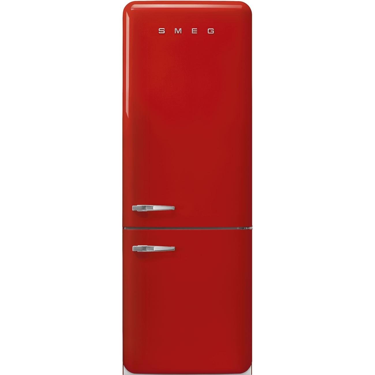Frigorifero Americano Anni 50 smeg fab38rrd - frigorifero combinato smeg anni '50, rosso ,larghezza 70 cm  , 461 litri, cerniere a destra , a++ , total no frost