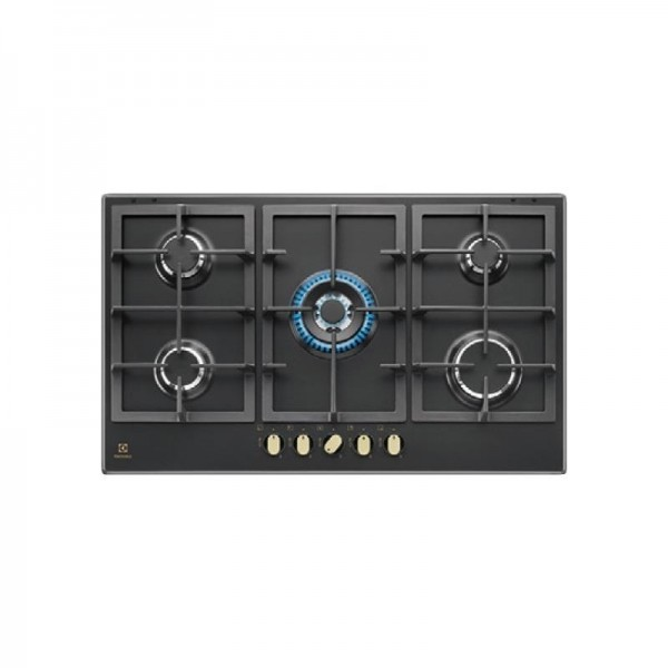 Electrolux KGS9536RN Piano Cottura gas 90 cm nero griglie in ghisa