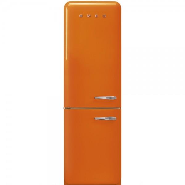 Smeg FAB32LOR3 - Frigorifero Combinato Smeg Anni \'50, Arancione, 331 Lt, 60  cm, Cerniere a Sinistra, A+++