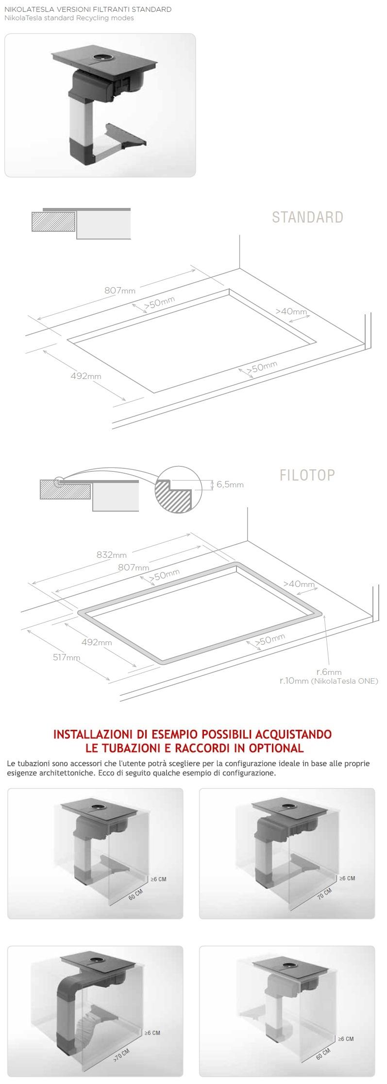 Piano Cottura Elica Prezzo elica prf0146213 nikolatesla switch wh/f/80 piano cottura induzione con  cappa versione filtrante